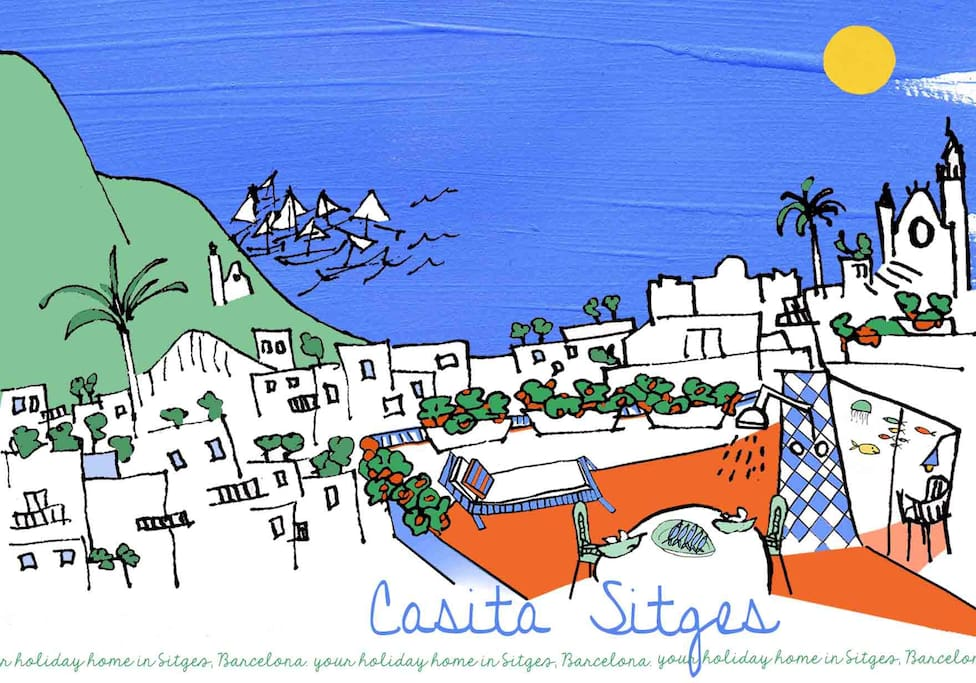 Our arty postcard of Casita Sitges