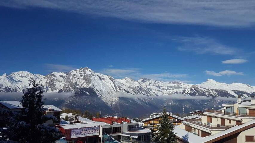 Studio au bord des pistes avec vue sur les Alpes - Nendaz - Apartment