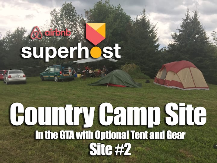 Camping in the SUNNY GTA: Flush Toilet Shower Hill