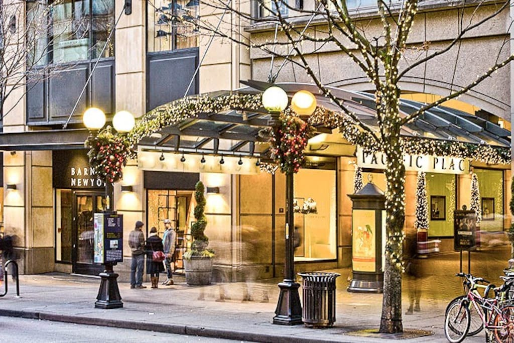 Just steps away from all the best shopping in Downtown Seattle. Pacific Place Mall