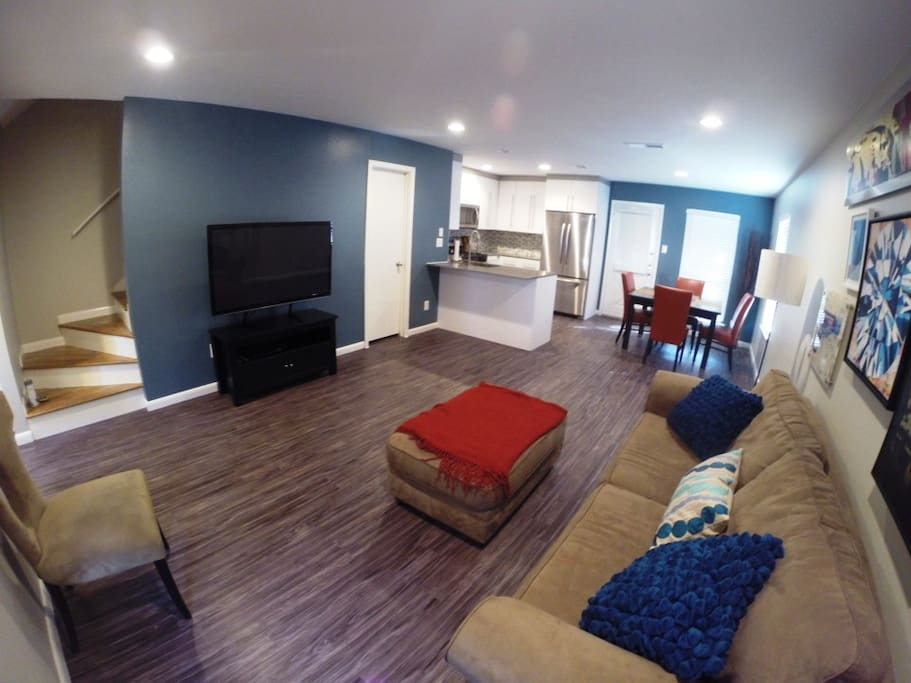 First floor has an open floor plan