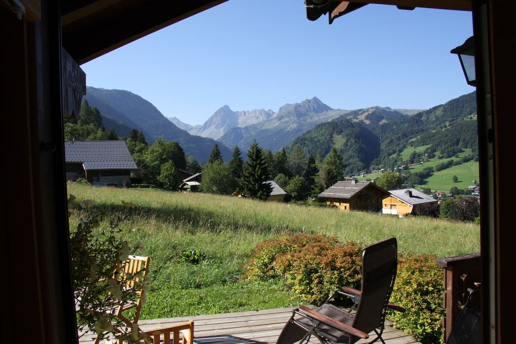 Mountain views from chalet are spectacular