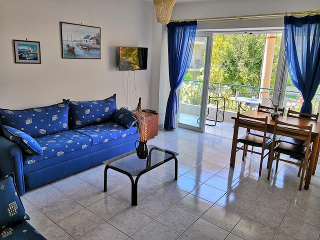 Cozy apartment at Lefkandi beach