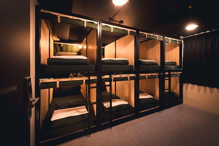 GetCha Hostel&Bistro  [ 結合餐酒館及住宿的複合型旅店 ] - 8床混合房 B