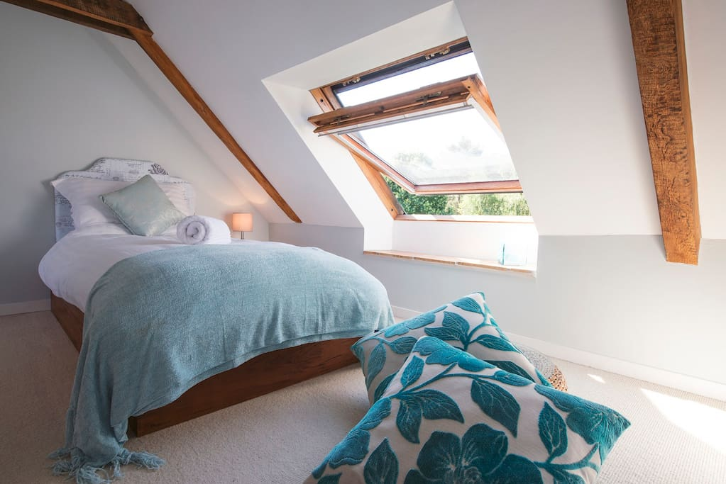 Quirky, appealing to kids.  Opposite Le Verger - the two rooms can be let together, ideal for families who can accommodate the whole upstairs space