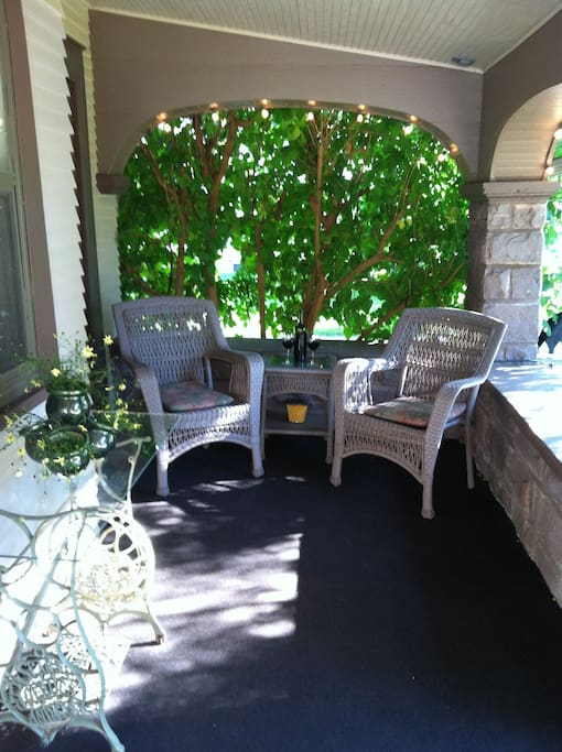 Relax on our secluded veranda...