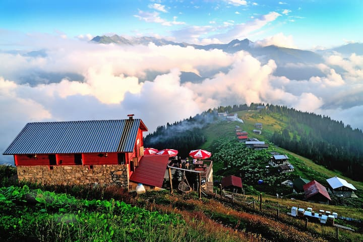 Rural hotel in the clouds