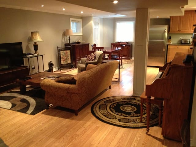 Furnished 1 bdrm  lower apt with private entrance