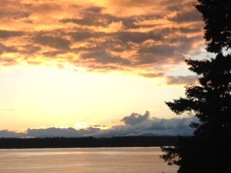 Sunset over Case Inlet/Vaughn Bay
