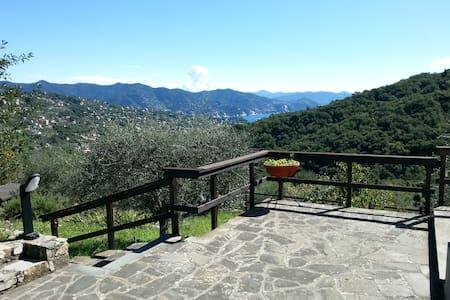 Sea-view villa on Portofino mount - San Lorenzo della Costa - Rumah
