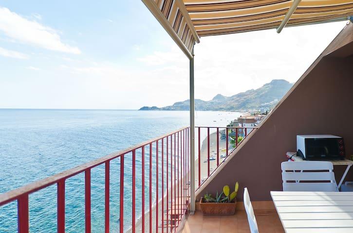 A gorgeous view over Taormina's bay - Letojanni - Apartament