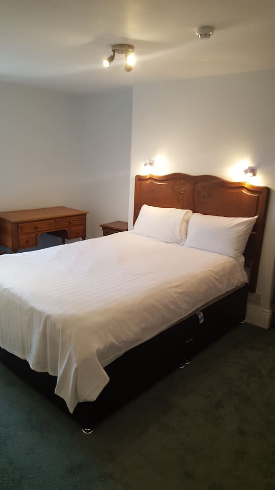 Double room with ensuite shower room.