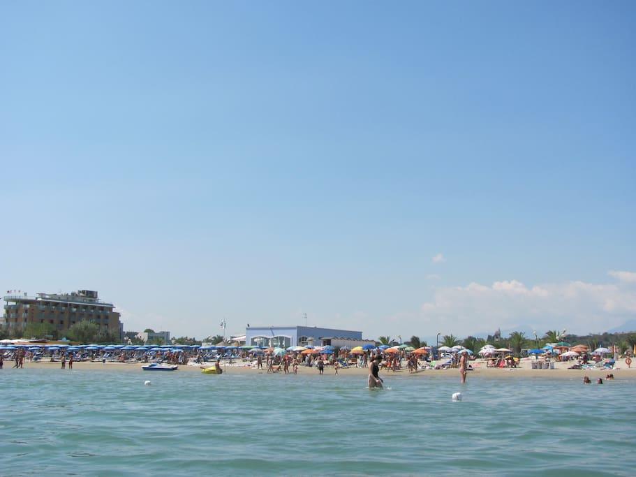 Spiaggia adatta per bambini piccoli
