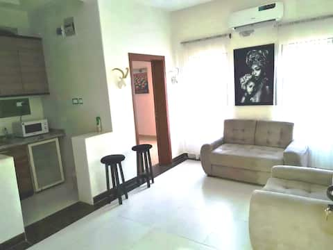 Sleek, modern and affordable serviced  apartment