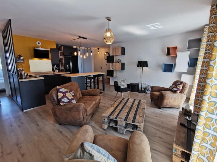 Joli appartement F4 87m² avec garage proche centre