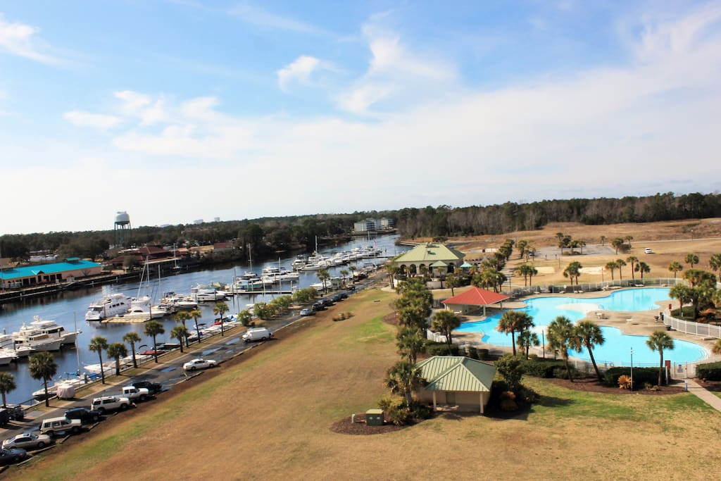 Yacht Club Marina is beside the pool & restaurant