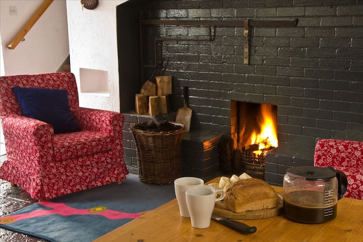 Traditional cottage overlooking Killala Bay in one of the beautiful, secret places in Ireland