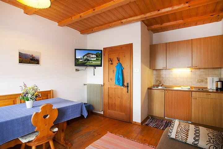 "Apartment ""Sonnenblume - Nusserhof"" near the Skiing Area with Mountain Views, Wi-Fi, Balcony & Shared Garden; Parking Available"