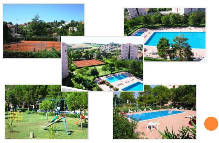 Flat  in a Residential complex with swimming pool - Marcelli - Apartamento
