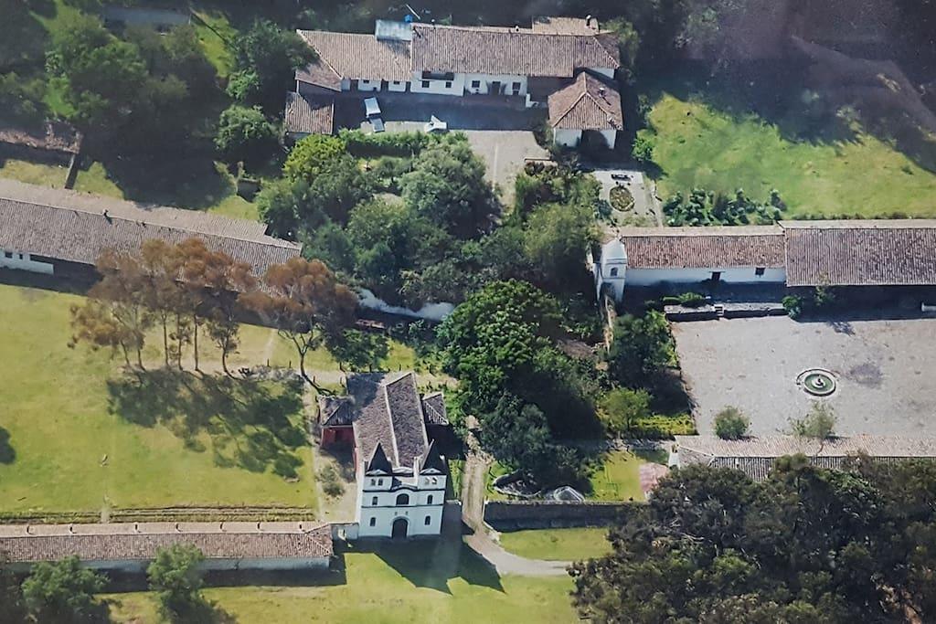 Vista de la Hacienda Guachalá