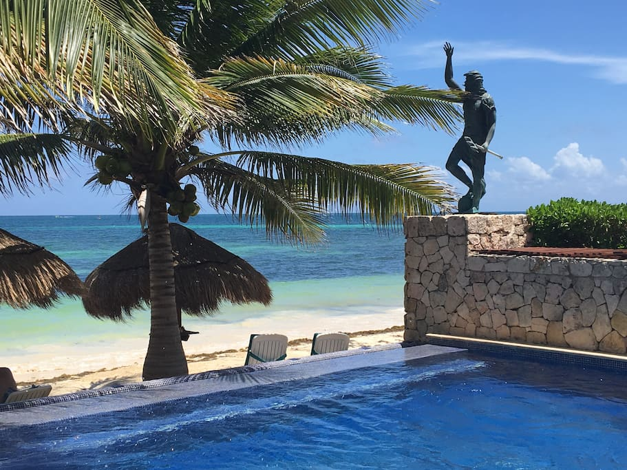 Infinity pool overlooking the Caribbean Sea