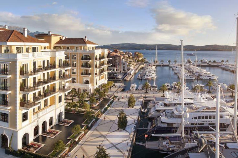 Porto Montenegro , ca 5 min walk from the apartment