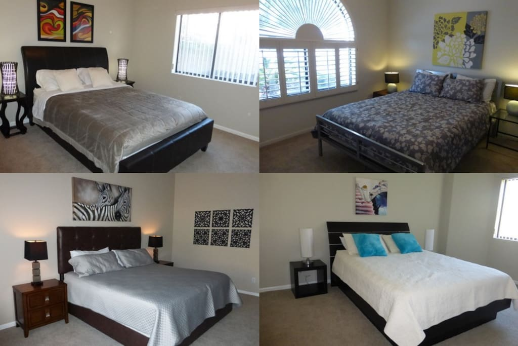 4 nicely appointed bedrooms, all with pillow top mattress