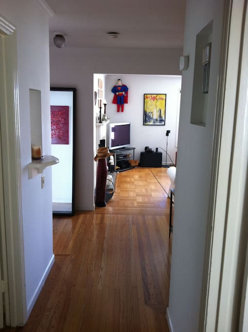 Entry into the apartment