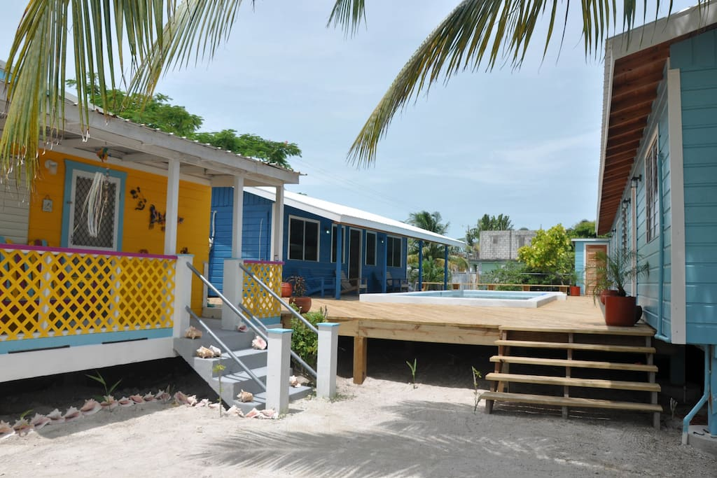On property with pool and 3 other cabanas but still remains private