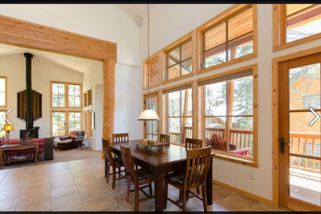 Dining room opens to the living room when you first walk in.