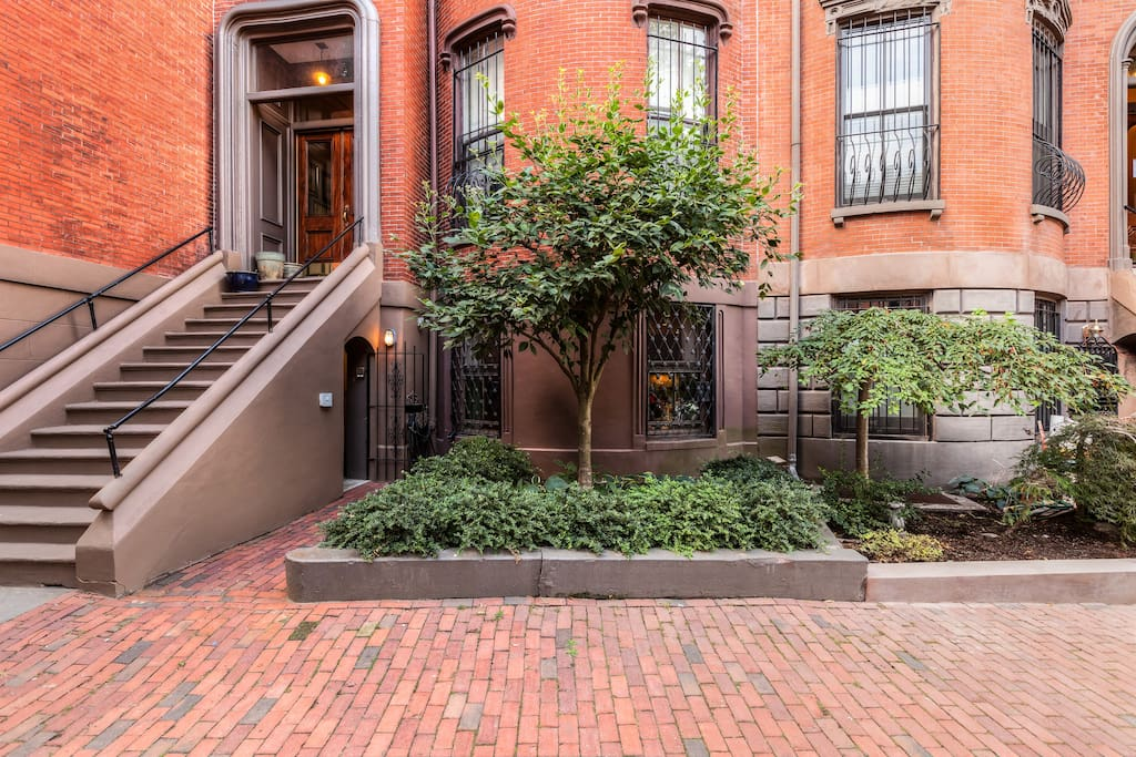 South End brownstone, easy street level access, no stairs, semi private entrance
