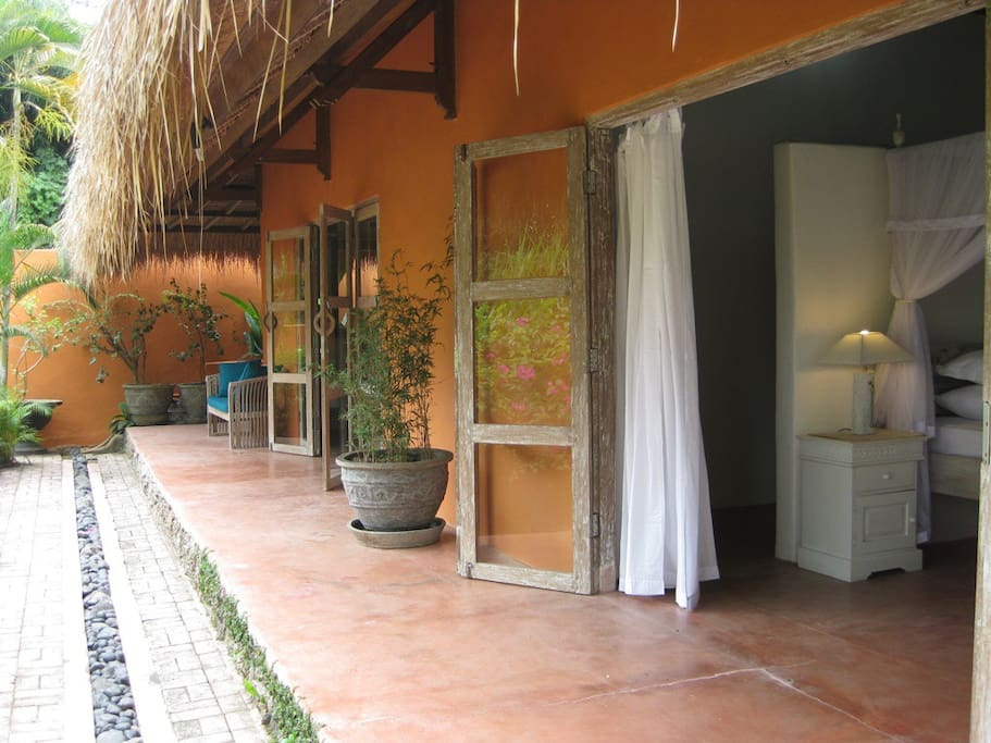 Entrance to the 'Frangipani' and  'Bougainvillea' rooms.