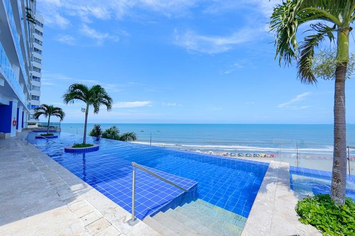 Luxury Frente al Mar, a 4 minutos Centro histórico