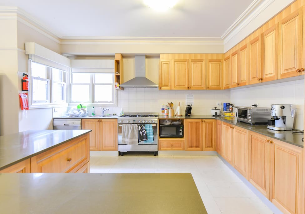 Access to large modern kitchen