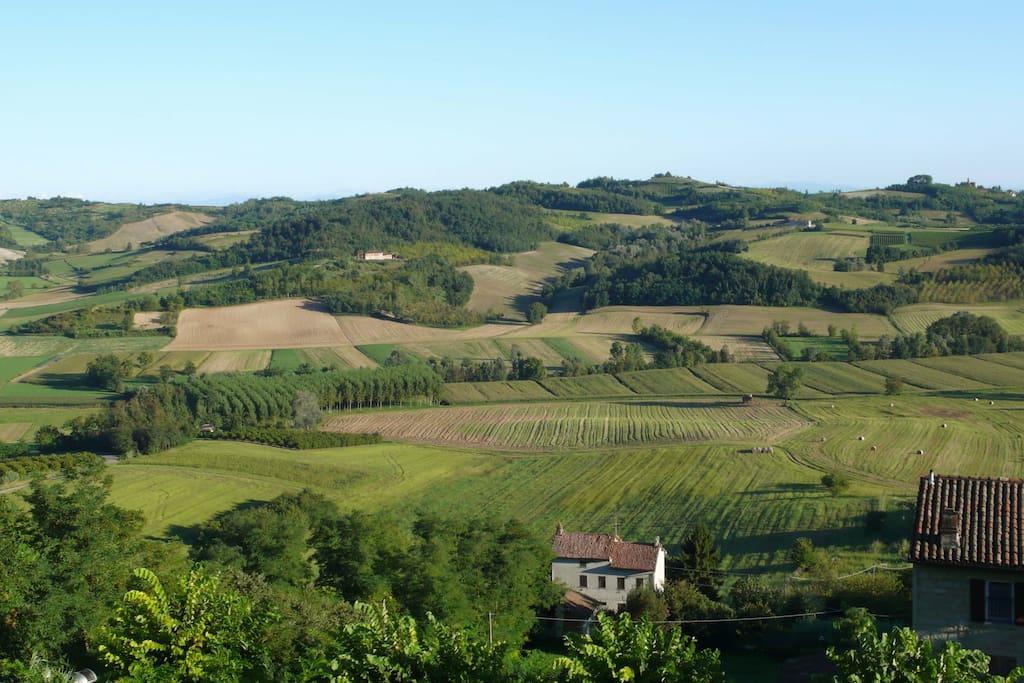 DALLA FINESTRA le colline del Monferrato casalese