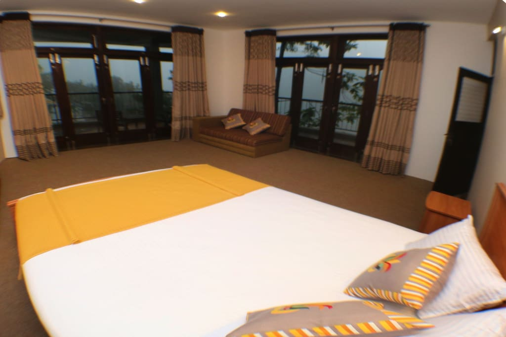 spacious room with a great view and wrap~around balcony