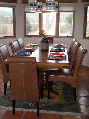 Dining Table with views of the Mountains