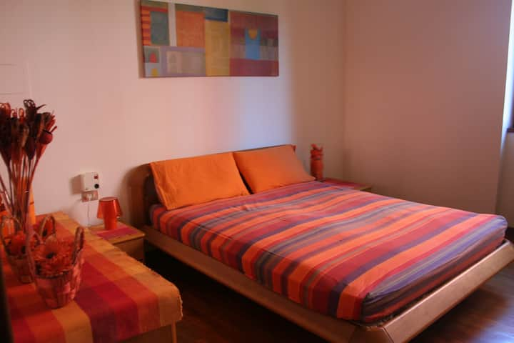 Orange room in villa