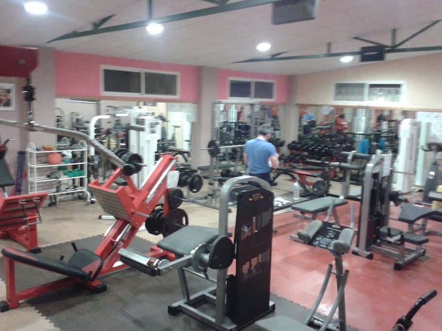 Free access and use of  commercial gym , ajoining your accomadation