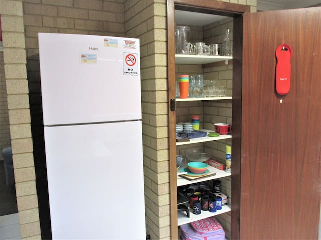 Pantry & full size fridge