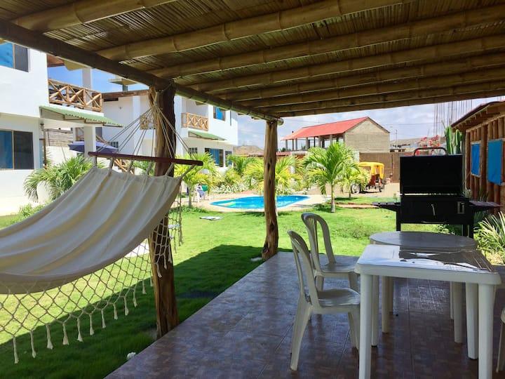 Casa de Playa Punta Sal c/piscina