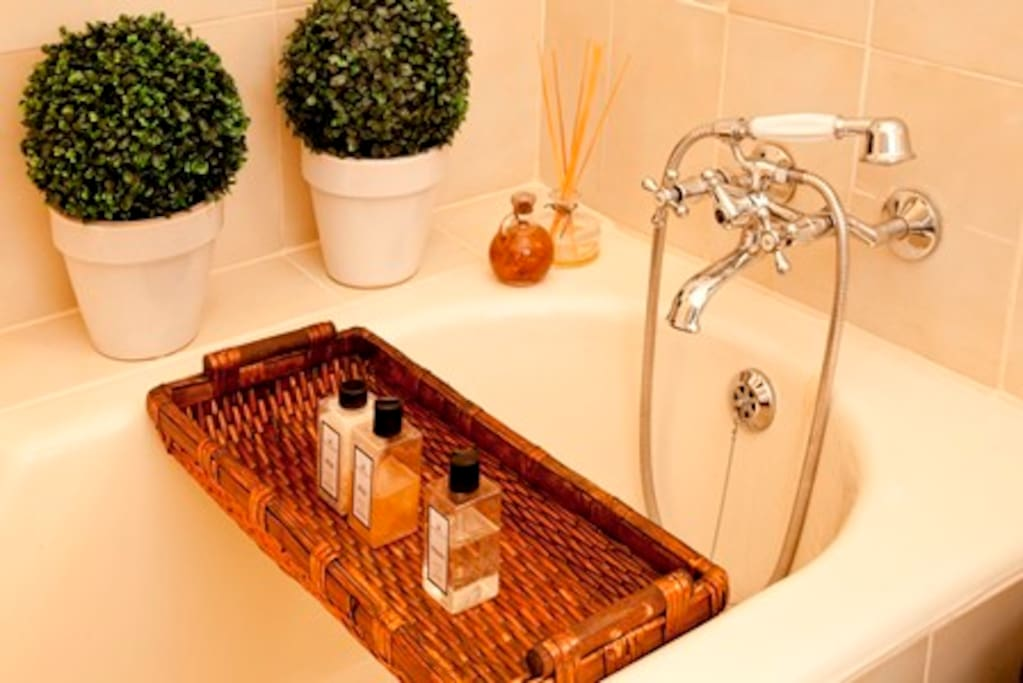 Bath with toiletries