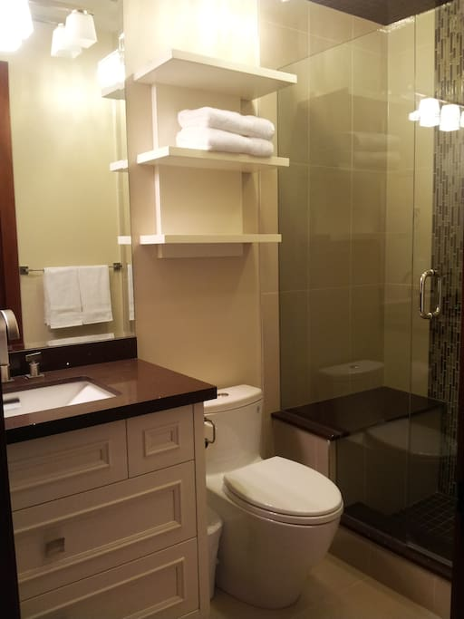 Comfortable in-suite bathroom