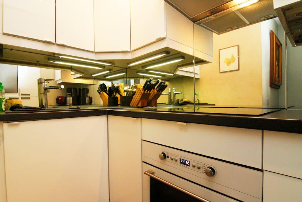 kitchen entirely furnished