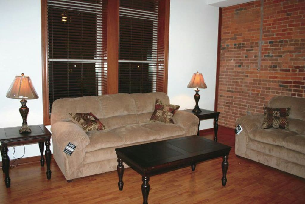 Entertainment area. Flat screen TV, DVD player, cable and wireless. Overlooking downtown Wooster.