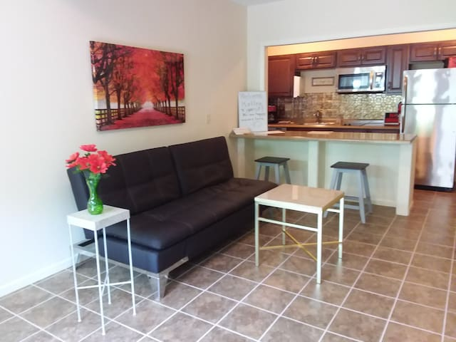 Make yourself at home, in your own private,  super clean, open-floor plan apartment!