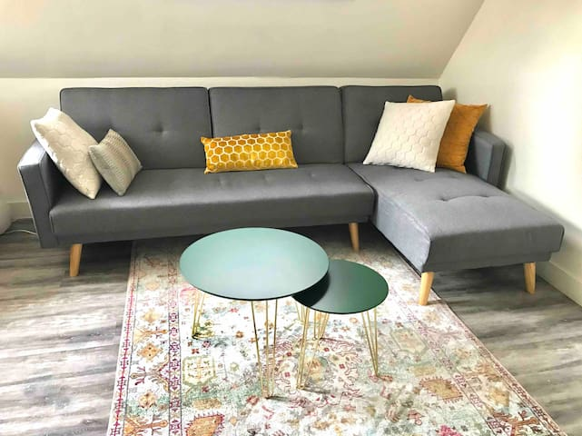 Light comfy top-apartment (free parking)