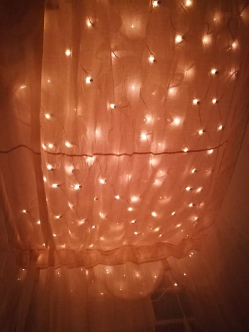Bedroom Star cieling over double bed