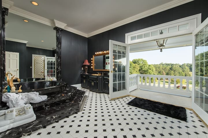 Master bath overlooking the gorgeous views from your private balcony