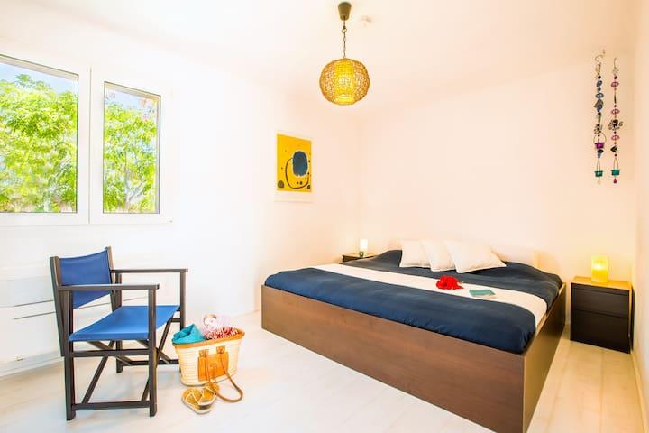 Schlafzimmer II, Bett mit 200 x 200 Matratze